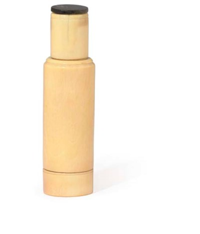 AN IVORY APOTHECARY BOTTLE CAS