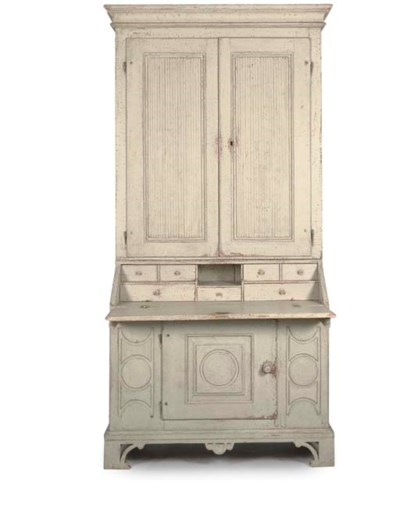 A GUSTAVIAN PALE GREEN PAINTED