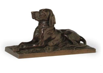 A BRONZE ANIMALIER MODEL OF A