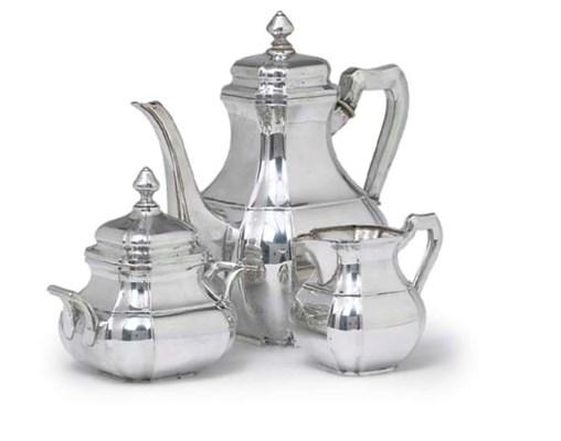 A SILVER TEA SERVICE