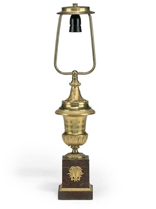 A FRENCH GILT-BRONZE VASE TABL