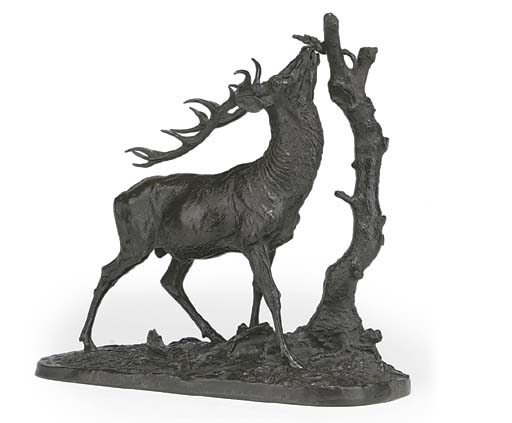 A FRENCH BRONZE MODEL OF A BRO