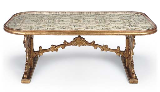 A GILTWOOD LOW TABLE