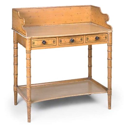 A REGENCY PAINTED WASHSTAND
