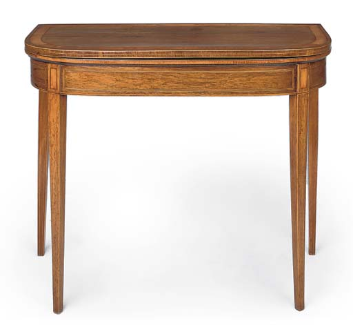 A GEORGE III ROSEWOOD AND LINE