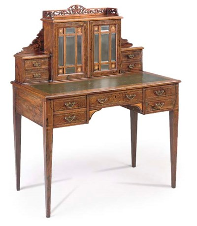 A ROSEWOOD AND INLAID BONHEUR