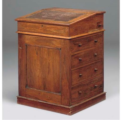 An early Victorian rosewood da