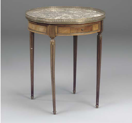 A French circular mahogany and