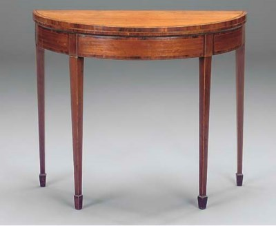 A George III mahogany and cros