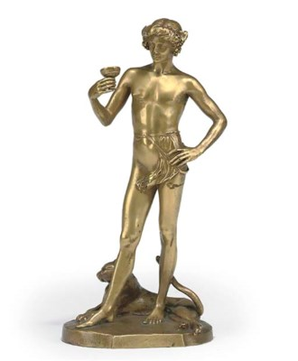 A FRENCH GILT-BRONZE MODEL OF