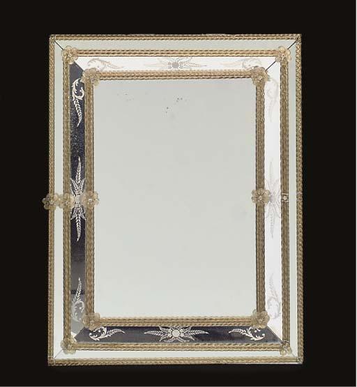 A VENETIAN ETCHED-GLASS MARGIN
