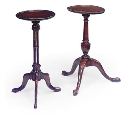 TWO MAHOGANY WINE TABLES