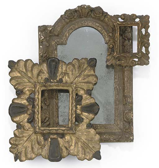 A FRENCH GILT-WOOD AND GESSO F