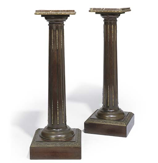 A PAIR OF FRENCH ROSEWOOD AND