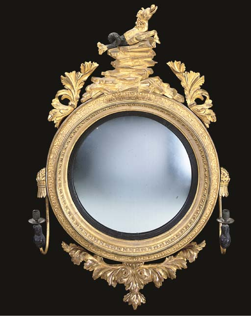 A GILTWOOD AND COMPOSITION TWO
