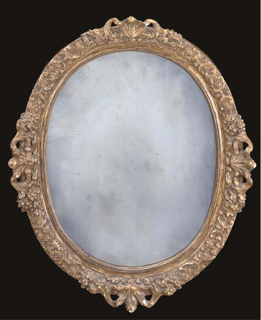 A LOUIS XIV GILTWOOD AND COMPO