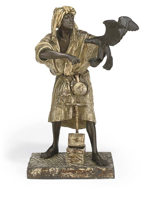 A GERMAN COLD-PAINTED SPELTER