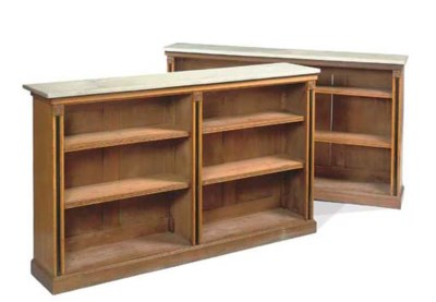 A PAIR OF GEORGE IV OAK AND EB