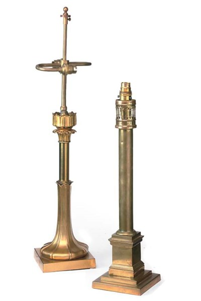 A WILLIAM IV LACQUERED BRASS T