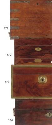A GEORGE III MAHOGANY BOX