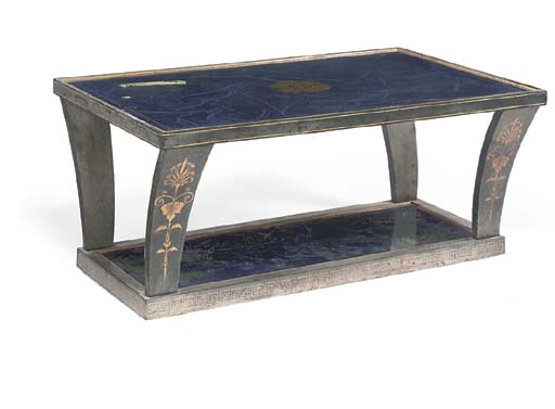 AN EBONISED AND PARCEL-GILT LO