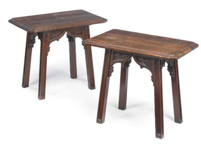 A PAIR OF EDWARDIAN 'GOTHICK'