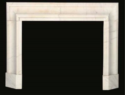 A white marble cavetto moulded
