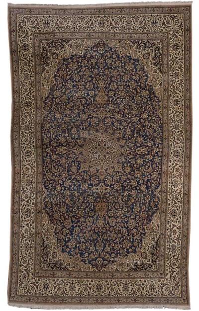 A fine part silk Nain carpet,