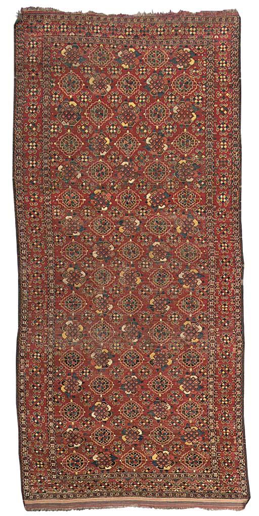 An antique Beshir carpet, Uzbekistan