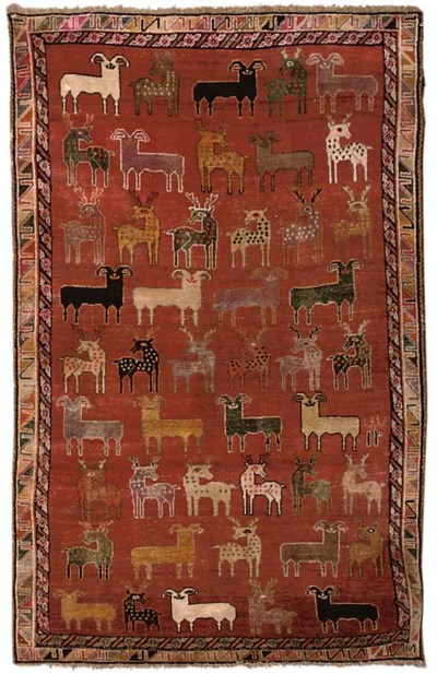 An unusual Gabbeh large rug, S