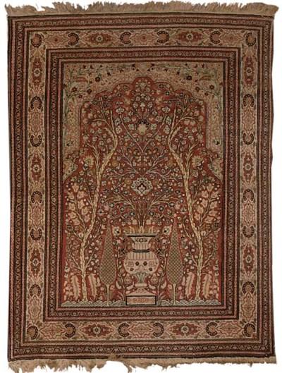 A pair of Tabriz prayer rugs,