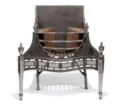 A GEORGE III STEEL AND CAST-IR