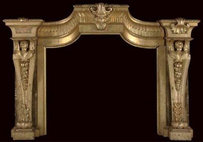 AN ITALIAN CARVED GILTWOOD CHI