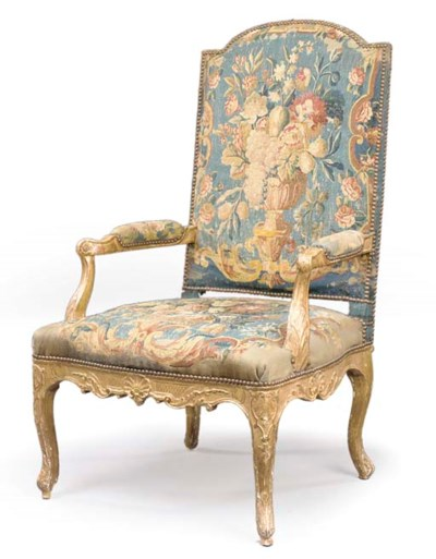 A REGENCE GILTWOOD FAUTEUIL
