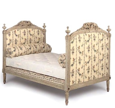A LOUIS XVI WHITE PAINTED BED