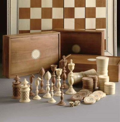 AN ANGLO-INDIAN IVORY AND SAND