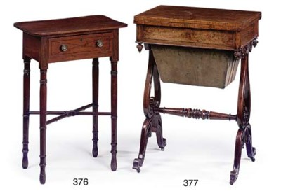 A EARLY VICTORIAN ROSEWOOD WOR