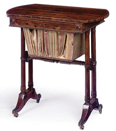 A REGENCY SIMULATED ROSEWOOD A