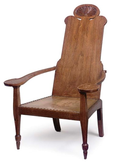 AN ANGLO-INDIAN HARDWOOD AND L