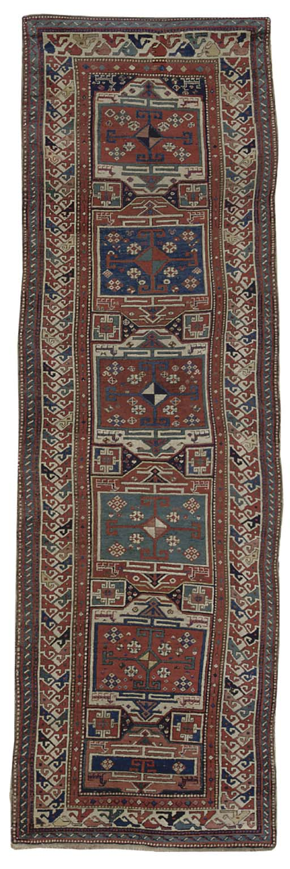 An unusual antique Kazak runne