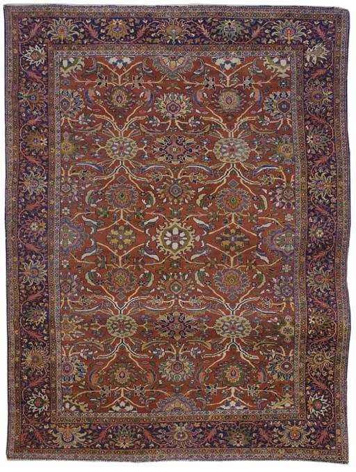 An antique Feraghan carpet