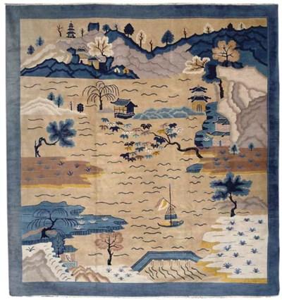 A fine unusual Chinese carpet