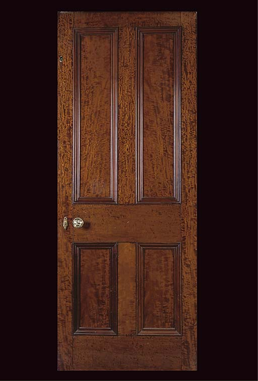 FOUR EDWARDIAN MAHOAGNY DOORS
