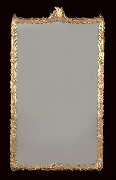 A LARGE GILTWOOD PIER GLASS