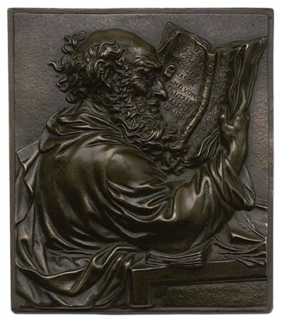 A GERMAN BRONZE RELIEF PLAQUE