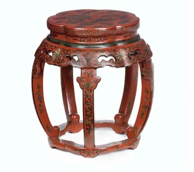 A CHINESE EXPORT RED LACQUER S