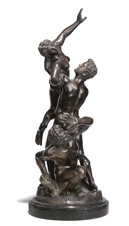 A BRONZE GROUP OF 'THE RAPE OF