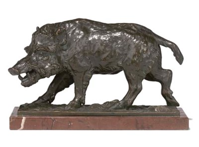 A FRENCH BRONZE PATINATED ELEC