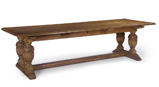 A LARGE RIMU REFECTORY TABLE