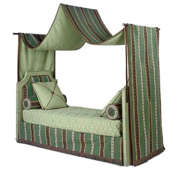 A SINGLE UPHOLSTERED BED